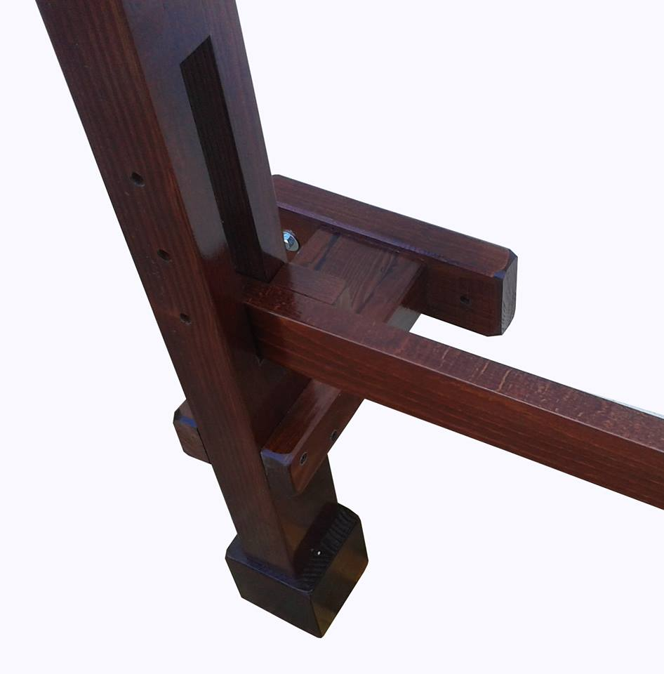 Wooden Dummy - Wood Wall Stand